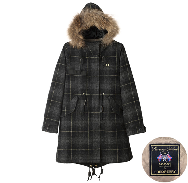 F6171 Moon Tweed Check Mods Coat (Women) ¥69,300