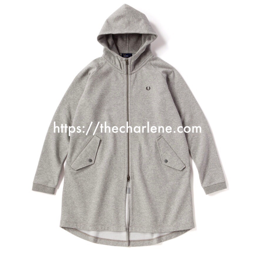Fred Perry(フレッドペリー) Hooded Long Sweat(MIX GREY)