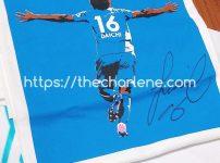 サガン鳥栖 林大地選手のサイン入りTシャツ@サガントストリーム©2020 The Charlene. Miu All Rights Reserved.